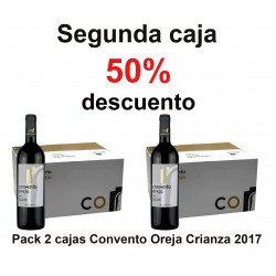 2 boxes pack of 6 bottles of CO Crianza 2017